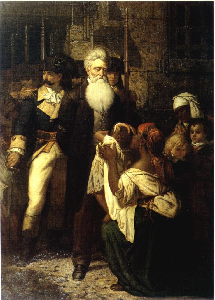 Thomas Satterwhite Noble (1835-1907), John Brown's blessing (La bénédiction de John Brown), 1867, huile sur toile, New-York Historical Society.
