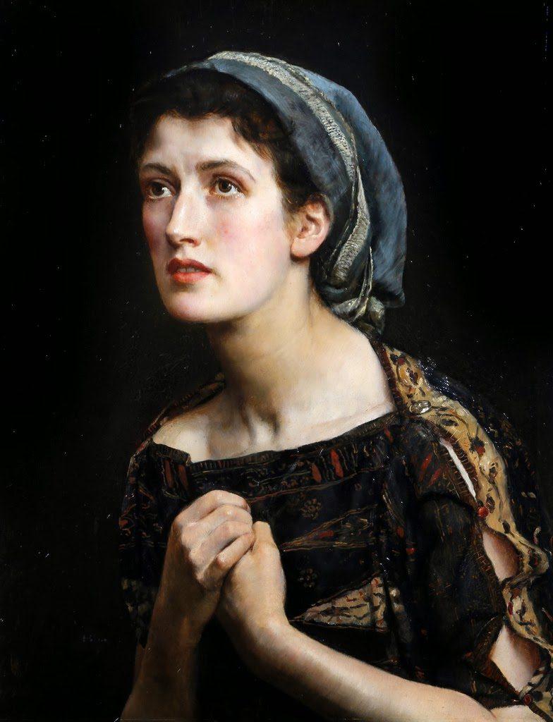 John Collier (1850–1934), Cassandre, 1885, huile sur toile.