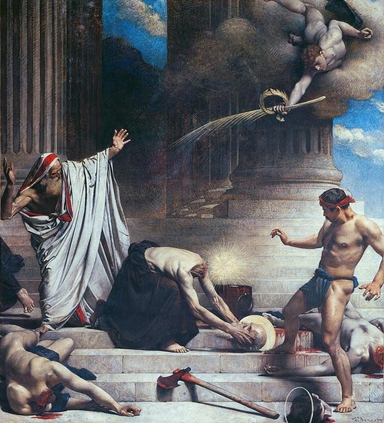 Léon Bonnat (1833-1922),Le martyre de saint Denis, 1874-1888, toile marouflée, Panthéon de Paris.