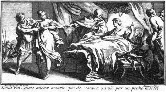 La mort de Louis VIII, gravure par François Boucher (1703-1770).