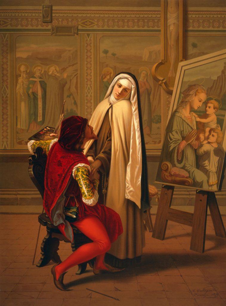Gabrielé Castagnola (1828-1883), L'amour ou le devoir, 1873, huile sur toile, collection privée.