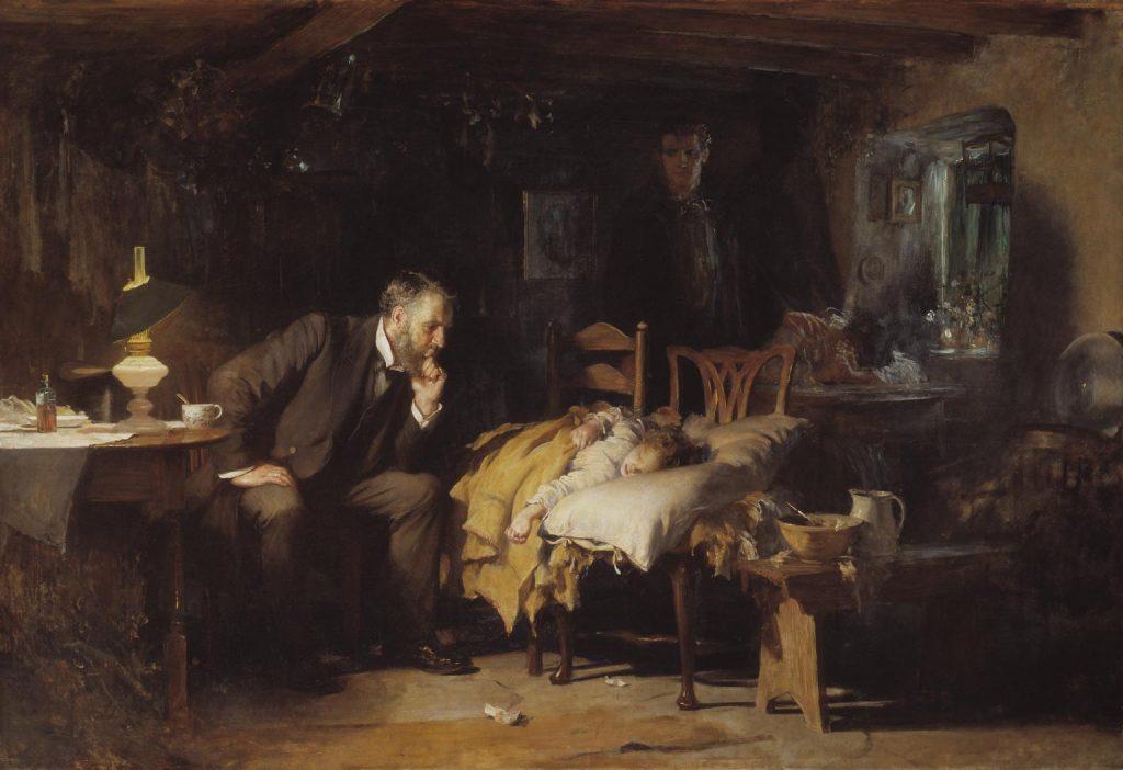 Luke Fildes (1843-1927), The Doctor (Le docteur), 1891, huile sur toile, Tate Museum.