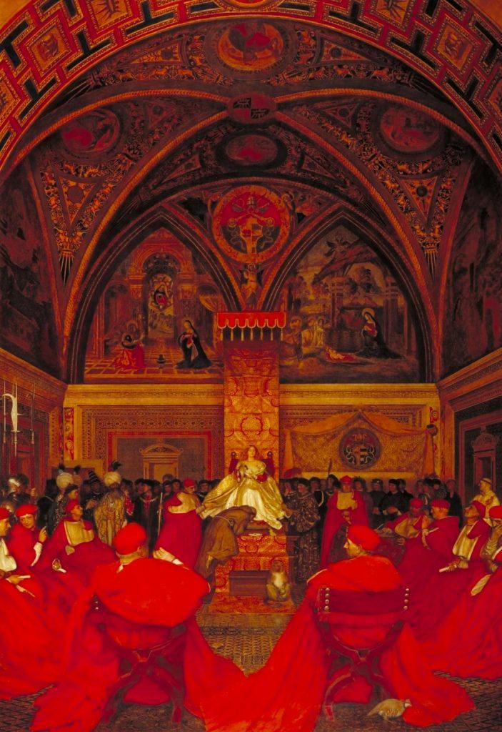 Frank Cadogan Cowper (1877–1958 ), Lucrèce Borgia règne au Vatican en l'absence du pape Alexandre VI, 1908-14, huile sur toile, Tate Museum.