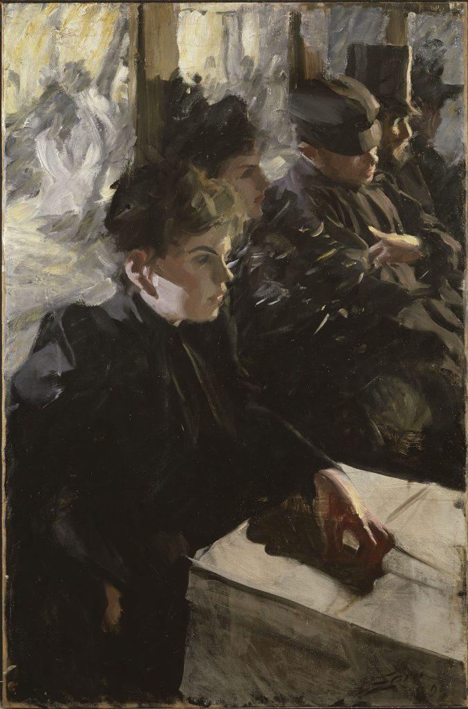 Anders Zorn (1869-1920), Omnibus I, 1892, huile sur toile, Isabella Gardner Museum.