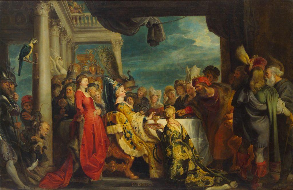 Ecole de Pierre Paul Rubens (1577-1640), Alboïn et Rosemonde, 1615, huile sur toile, Kunsthistorisches Museum.