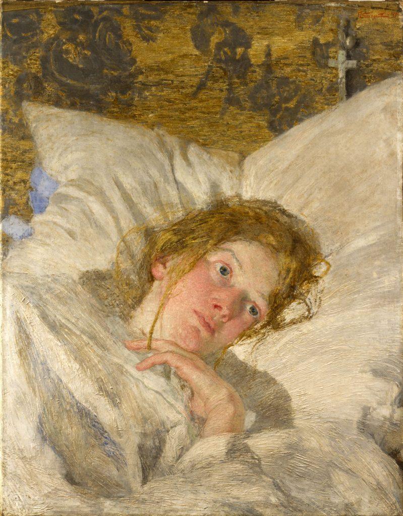 Giovanni Segantini (1858-1899), Pétale de rose, 1889-90, huile sur toile, collection privée.