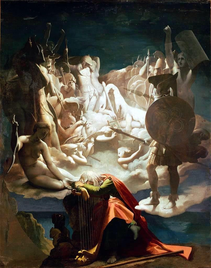 Jean-Auguste-Dominique Ingres (1780 - 1867), Le songe d'Ossian, 1813, huile sur toile, Musée Ingres, Montauban.