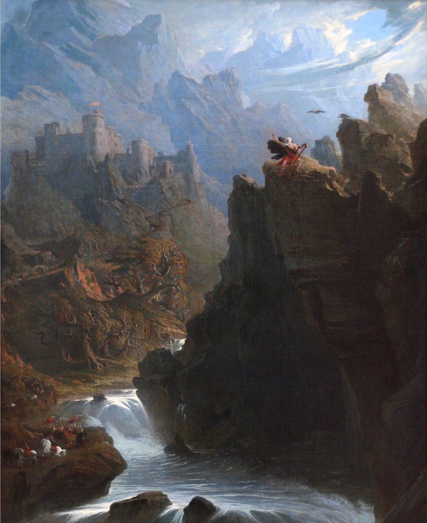 John Martin (1789-1854), Le barde, 1817, huile sur toile, Centre d'art britannique de Yale.