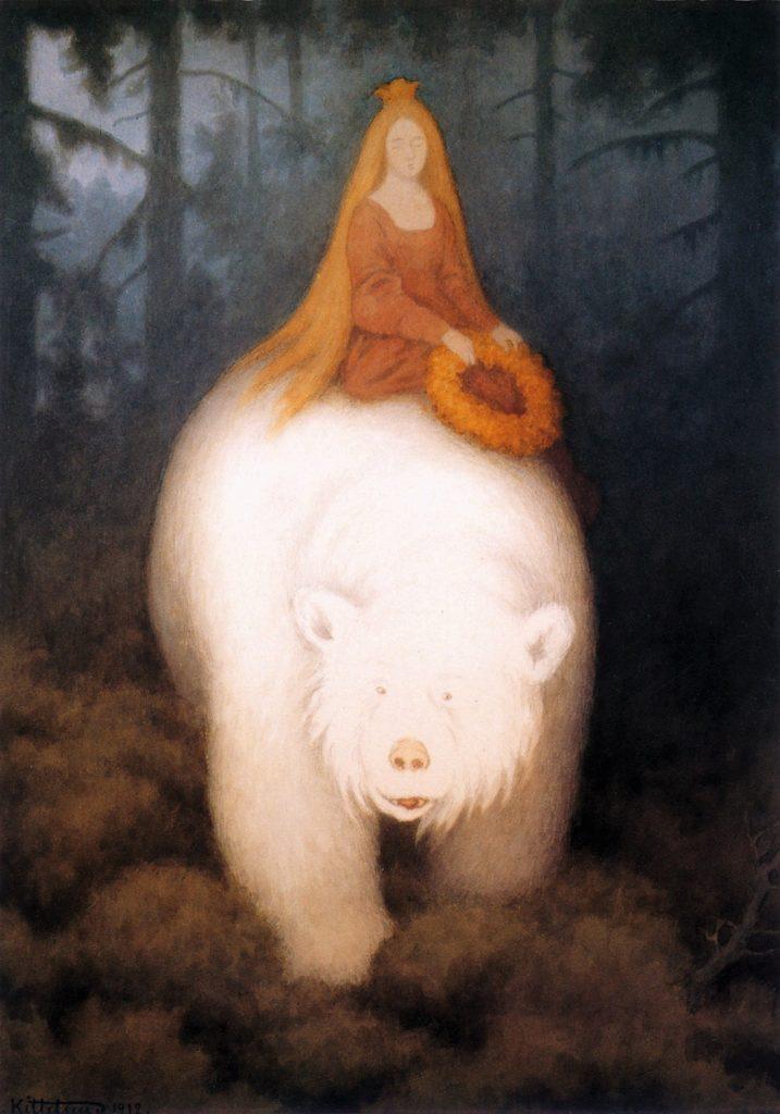Theodor Kittelsen (1857–1914), L'ours-roi Valemon, 1901 ou 1912.
