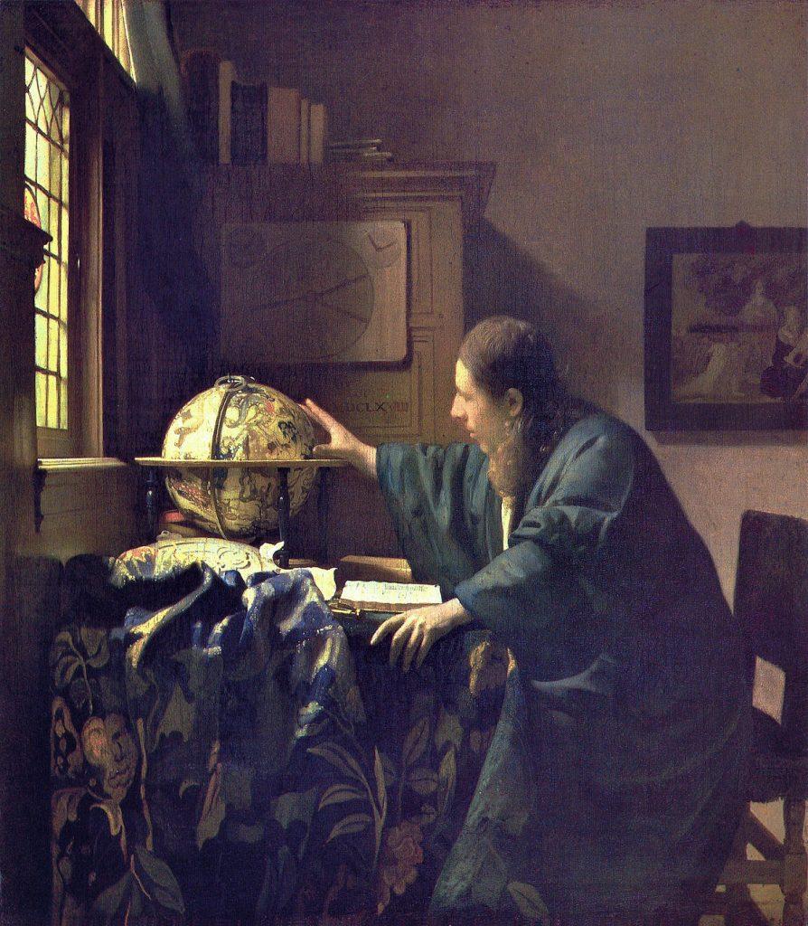 Johannes Vermeer (1632-1675), L'astronome, 1668, huile sur toile, musée du Louvre.