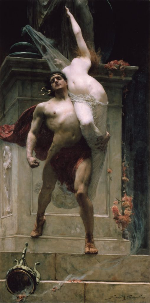 Solomon Joseph Solomon (1860-1827), Ajax and Cassandra, 1886, huile sur toile, Art Gallery of Ballarat, Victoria.
