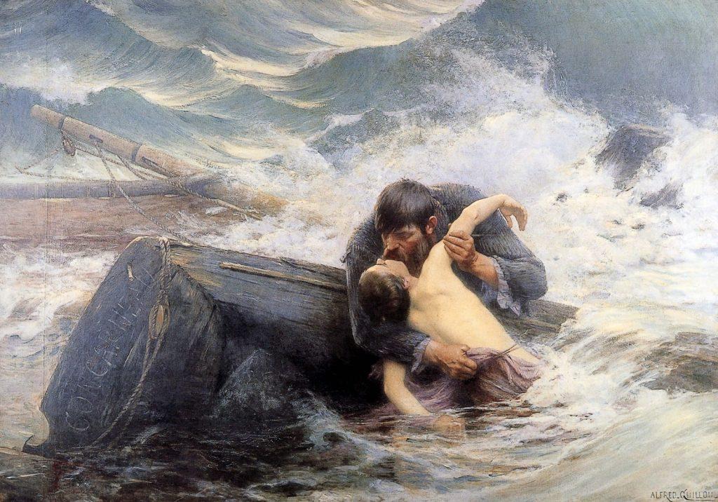 Alfred Guillou (1844-1926), Adieu!, 1892,huile sur toile, Musée des Beaux-Arts de Quimper.