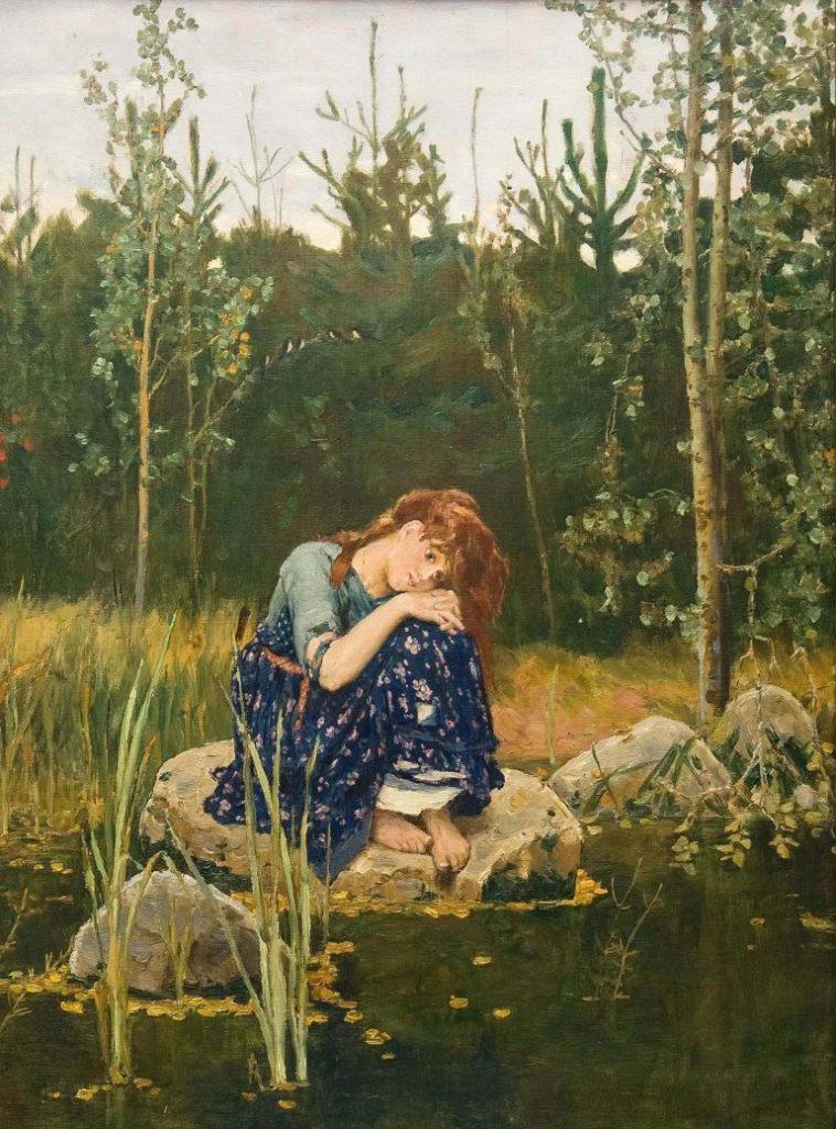Viktor Vasnetsov (1848-1926), Alionouchka, 1881, huile sur toile, Galerie Tretiakov.