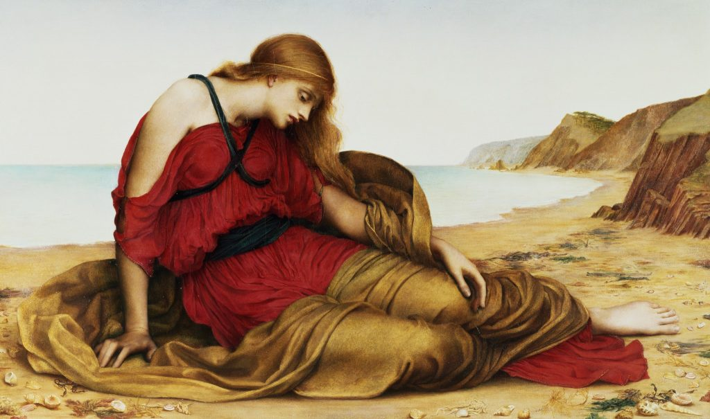 WDM32547 Ariadne at Naxos, 1877; by Morgan, Evelyn De (1855-1919); © The De Morgan Centre, London; English, out of copyright