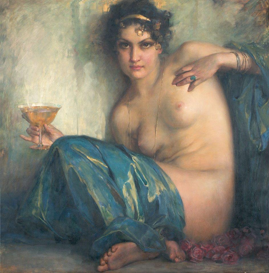 Robert Auer (1873 - 1952), Circé, 1942, huile sur toile, collection privée.