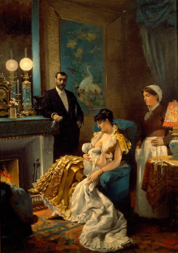 Édouard Debat-Ponsan (1847-1913), Avant le bal, 1886, huile sur toile, musée des beaux-arts de Tours.