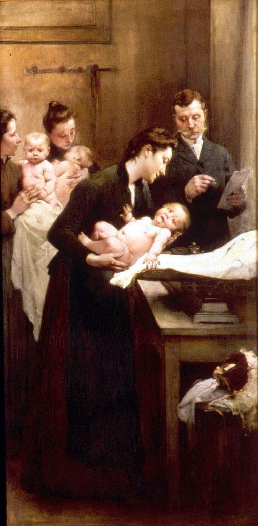 Jean Geoffroy dit Géo (1853-1924), La goutte de lait, 1903, huile sur toile, Musée de l'assistance publique