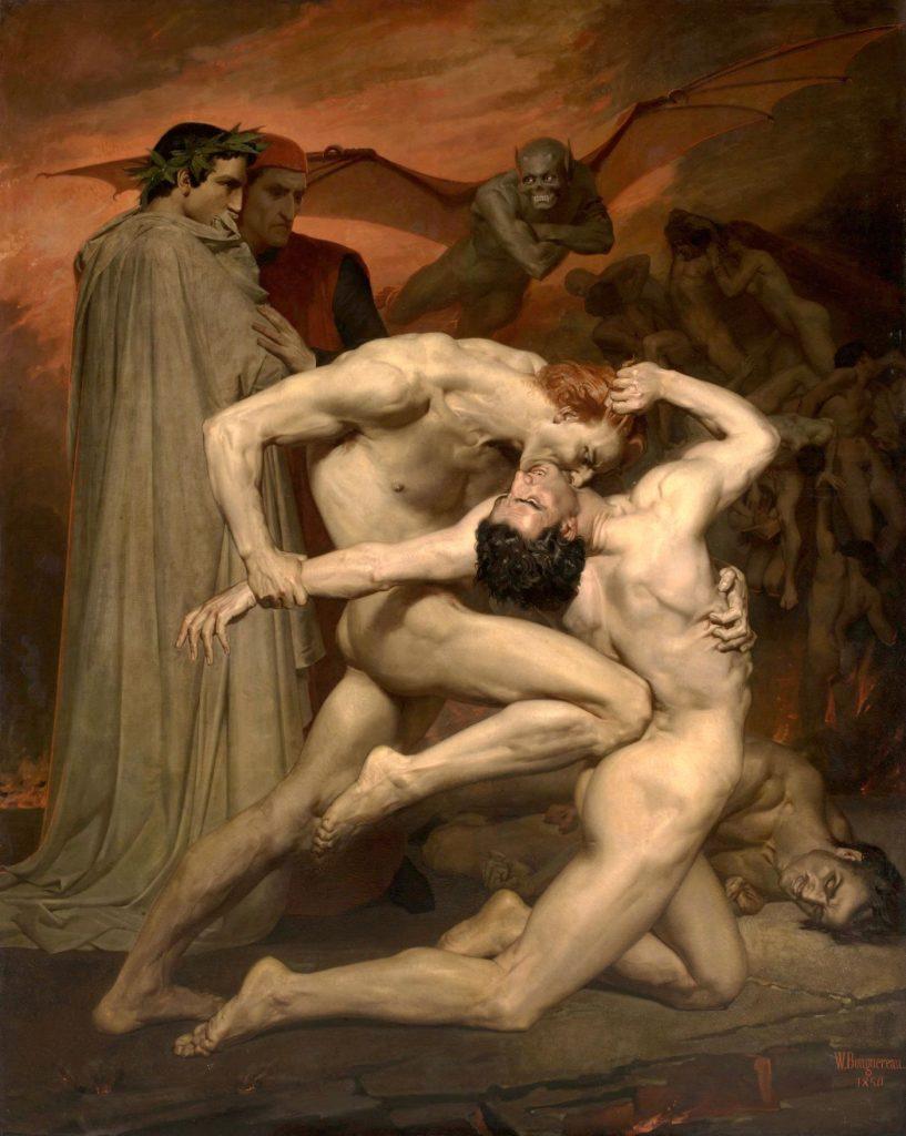 William-Adolphe Bouguereau (1825–1905), Dante et Virgile aux Enfers, 1850, huile sur toile, musée d'Orsay.