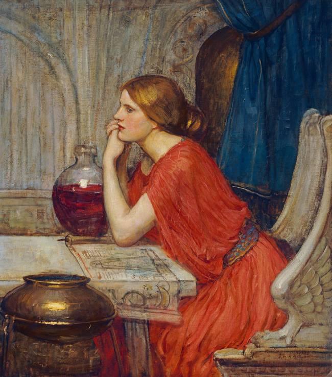 John William Waterhouse (1849–1917), La sorcière ou Circé, 1913, huile sur toile, collection privée.