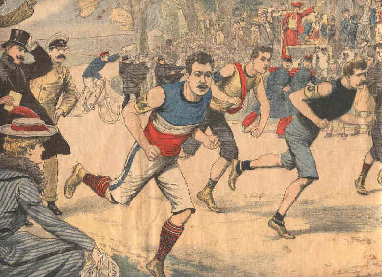 Le Cross-Country national de 1903 dans les bois de Saint Cloud et de la ville d'Avray.