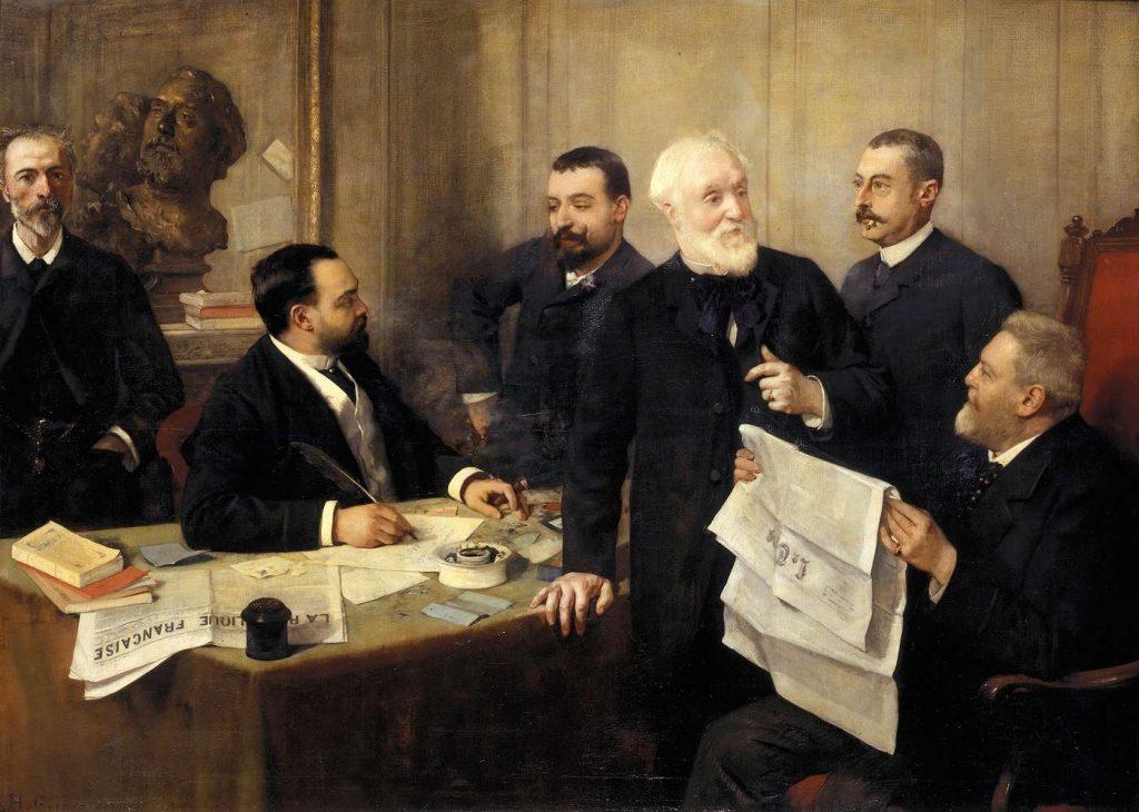 """Henri Gervex (1852-1929), A """"La république française"""",1890, huile sur toile, Musée d'Orsay."""
