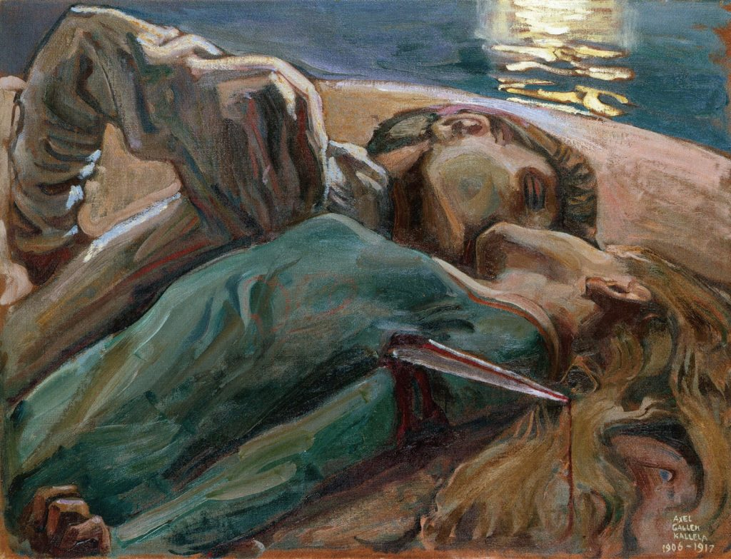 Akselli Gallen-Kallela (1865-1931), Les Amants, 1906-1917, huile sur toile, collection privée.