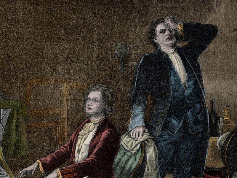 Illustration pour la pièce d'Alexandre Pouchkine, Mozart et Salieri.