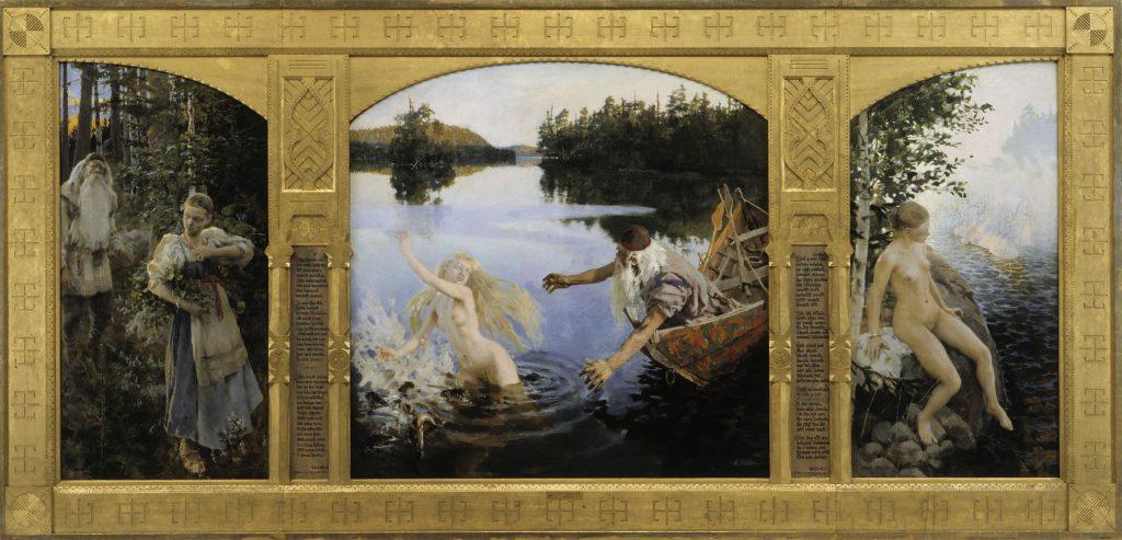 Akseli Gallen-Kallela (1865–1931), Le mythe d'Aïno, 1891, huile sur toile, Ateneum.