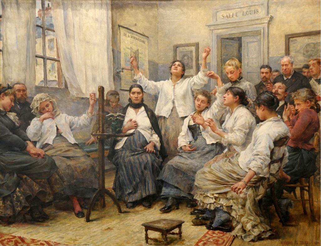 Georges Moreau de Tours (1848-1901),Les fascinés de la Charité, 1889, huile sur toile, Musée des Beaux-Arts de Reims.