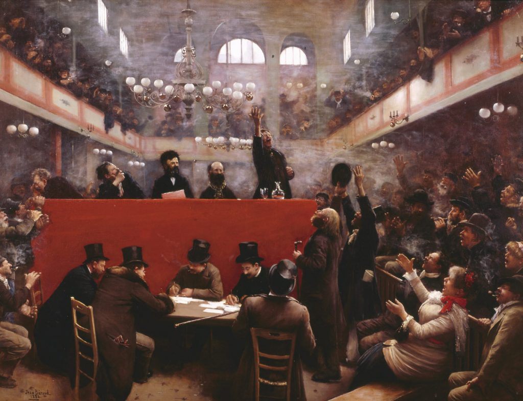 Jean Béraud (1849-1935), A la salle Graffard, 1884, huile sur toile, collection privée.