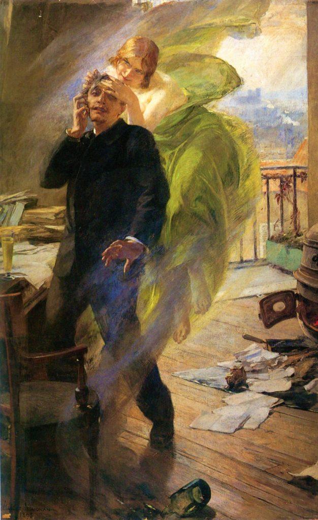 Albert Maignan (1845–1908), La muse verte, 1895, huile sur toile, Musée de Picardie, Amiens.