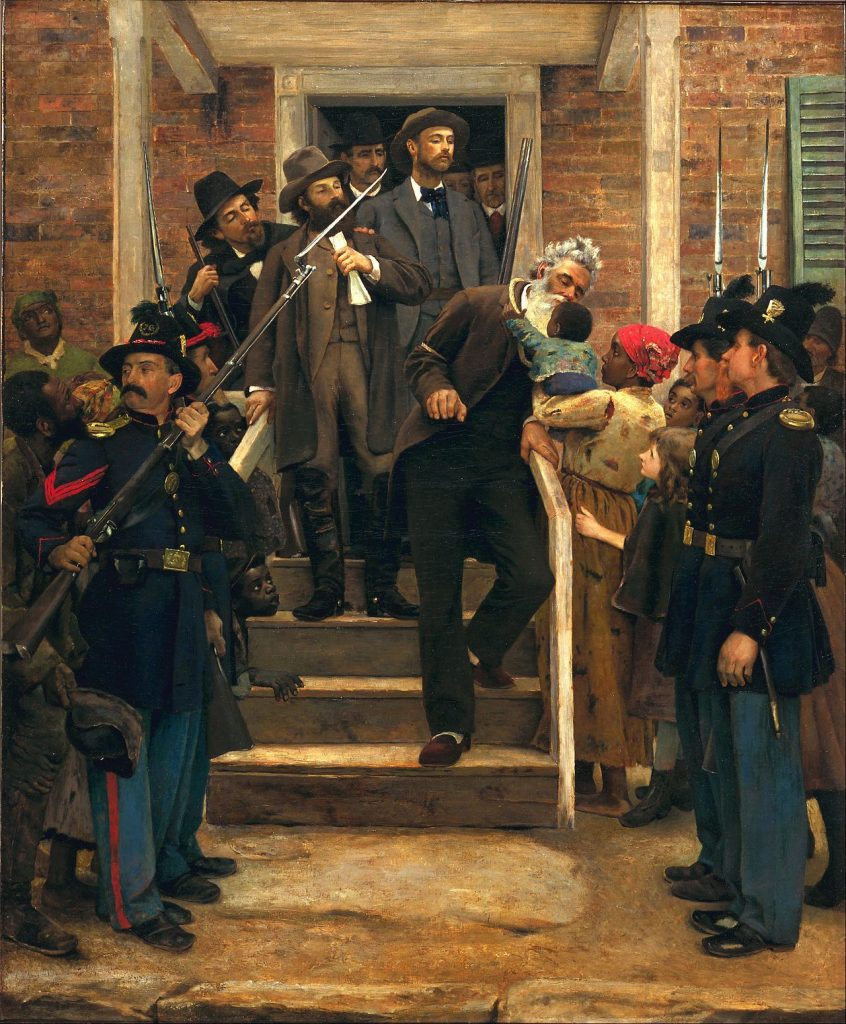 Thomas Hovenden (1840–1895) , The last moments of John Brown (Les derniers moments de John Brown), v.1884, huile sur toile, musée des Beaux-arts de San Francisco.