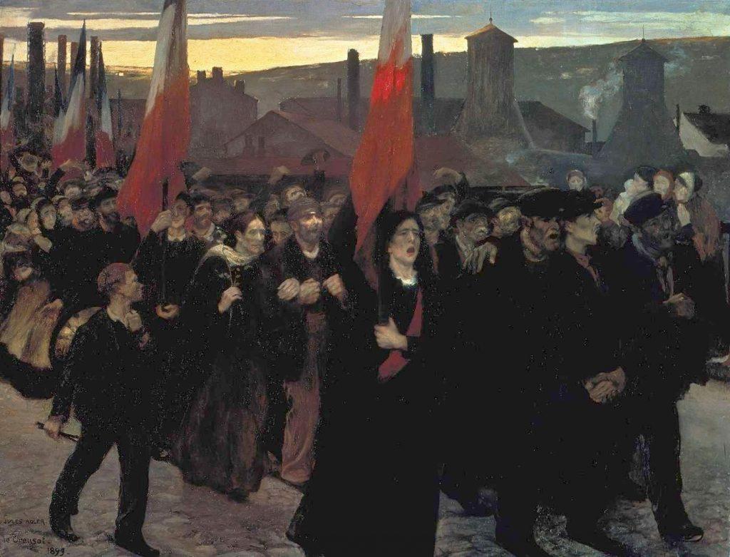 Jules Adler (1865-1952), La grève au Creusot, 1899, huile sur toile, Le Creusot, écomusée de la communauté Le Creusot/Montceau.