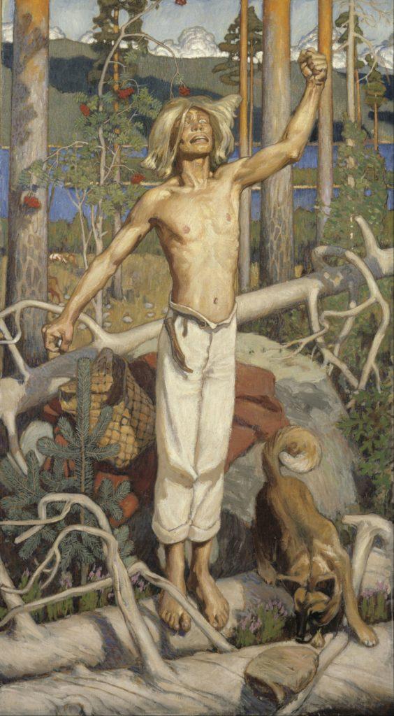 Akseli Gallen-Kallela (1865-1931), Kullervo jurant,1899, huile sur toile, Ateneum.