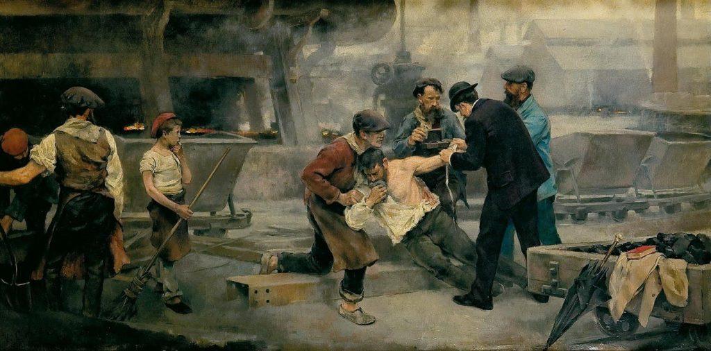 Peinture de Vicente Cutanda y Toraya (1850-1925).