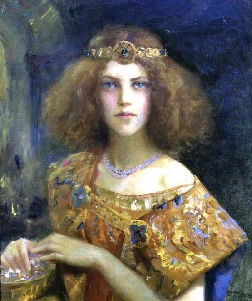 Gaston Bussière (1862–1928),Salammbô,1907,huile sur toile,collection privée.