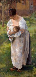 Alfred Roll (1846-1919), Louise Cattel, nourrice, 1894, huile sur toile, Palais des beaux-arts de Lille.