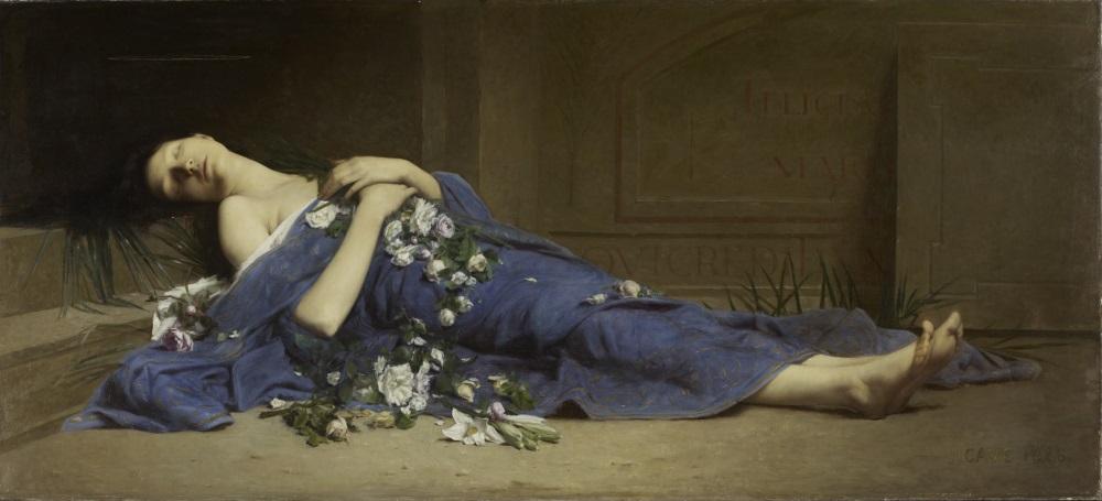 Jules Cyrille Cavé (1859-1946), Martyr aux catacombes, 1886, huile sur toile.