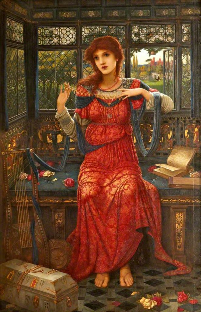 John Melhuish Strudwick (1849 -1937), 'O Swallow, Swallow' (Ô hirondelle, hirondelle), 1894, huile sur toile, (c) Sudley House; Supplied by The Public Catalogue Foundation