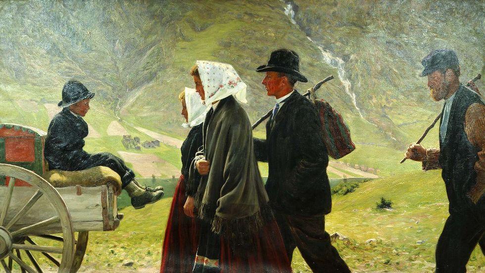 Gustav Wentzel (1859-1927), Les émigrés, 1903, huile sur toile.