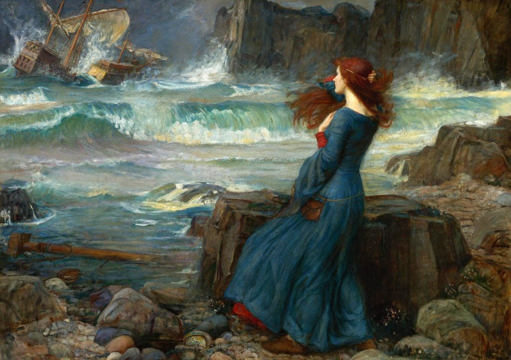 John William Waterhouse (1849–1917) ,Miranda: The Tempest, 1916, huile sur toile, collection privée.