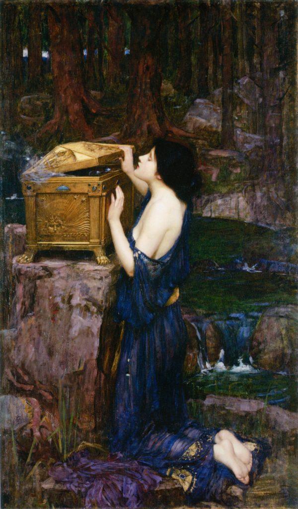 tableau de John William Waterhouse, Pandora