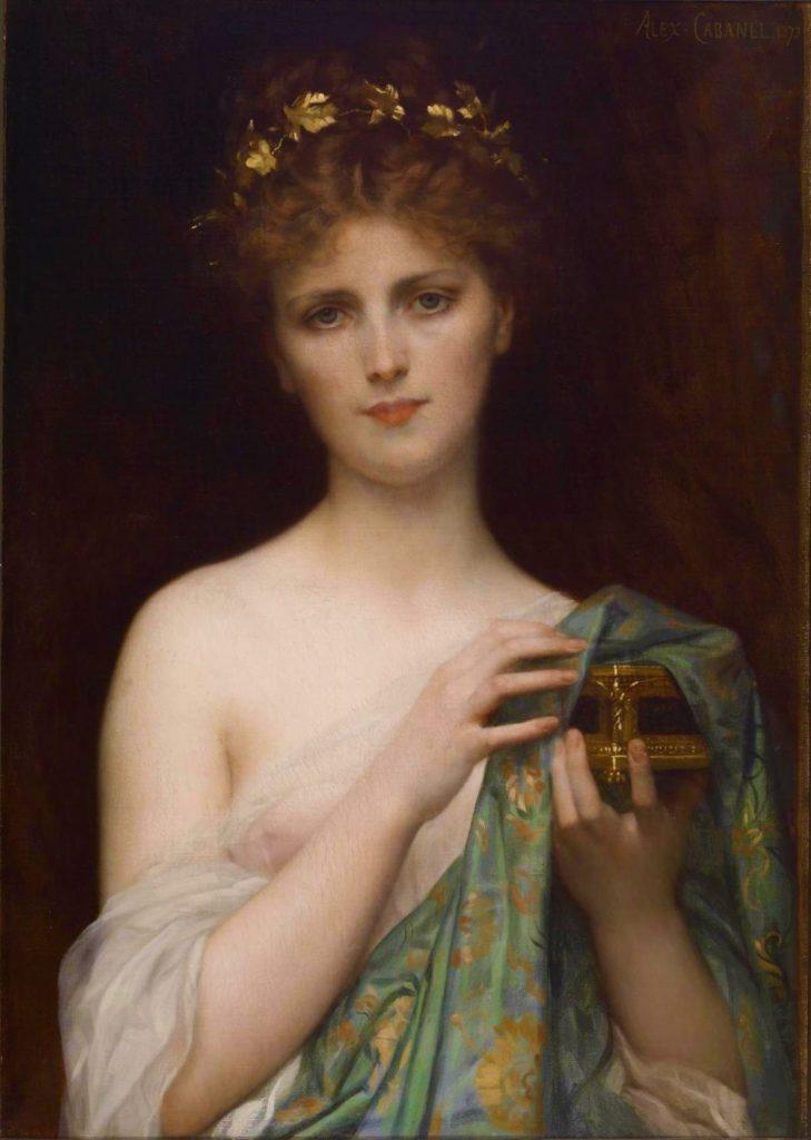 Alexandre Cabanel (1823–1889), Pandore, 1873, huile sur toile, Walters Art Museum.