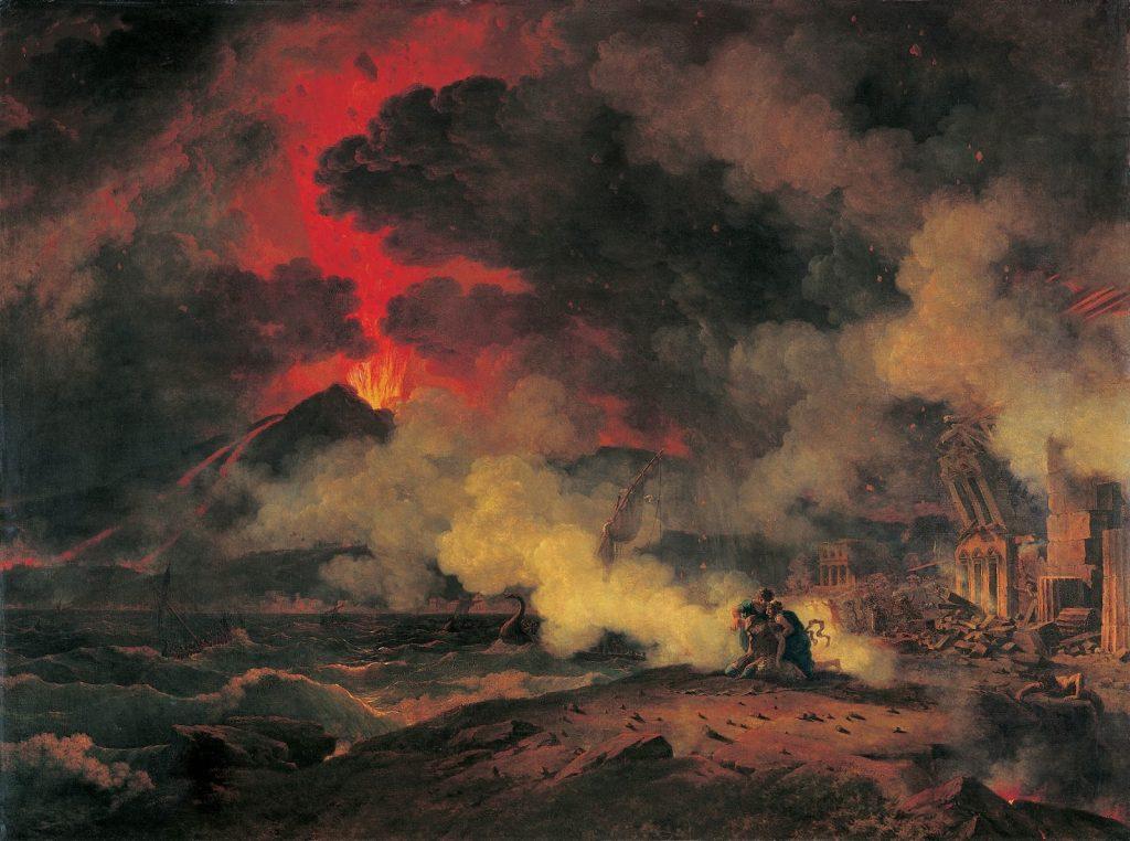 Pierre-Henri de Valenciennes (1750-1819), Eruption du Vésuve arrivée le 24 août de l'an 79 de J.-C. sous le règne de Titus, 1813, huile sur toile, musée des Augustins.