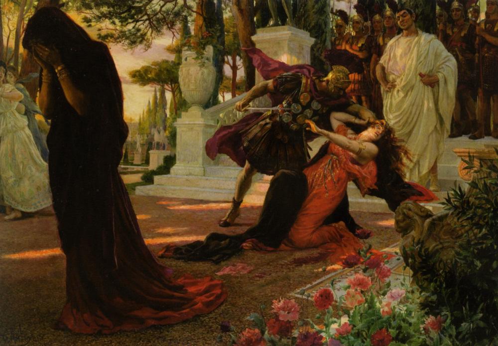 Georges Rochegrosse (1859–1938), La mort de Messaline, 1916, huile sur toile.