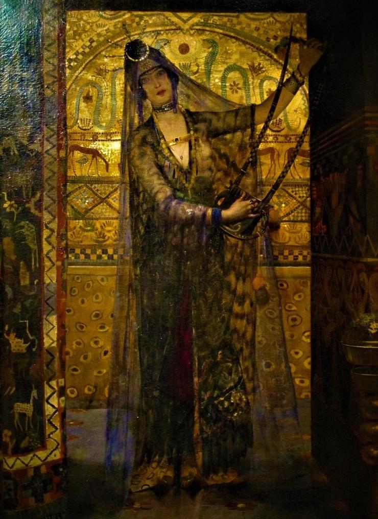 Georges-Antoine Rochegrosse (1859-1938), Salammbô, huile sur toile.