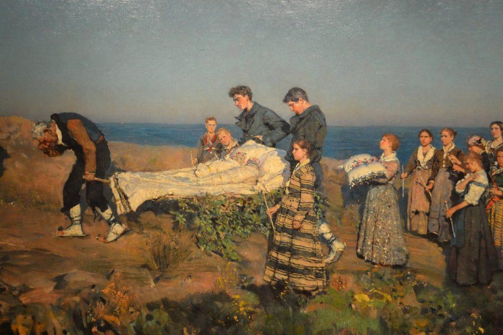 Francesco Paolo Michetti (1861-1929), I morticelli, 1880, huile sur toile, musée national des Abruzzes.