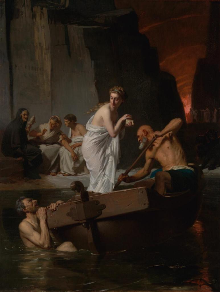 Eugène-Ernest Hillemacher (1818-1887), Psyché aux enfers,1865, huile sur toile, National Gallery of Victoria.