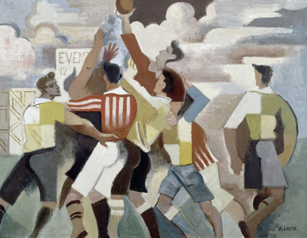André Lhote (1882 - 1962), Rugby, 1917, huile sur toile, centre Pompidou.