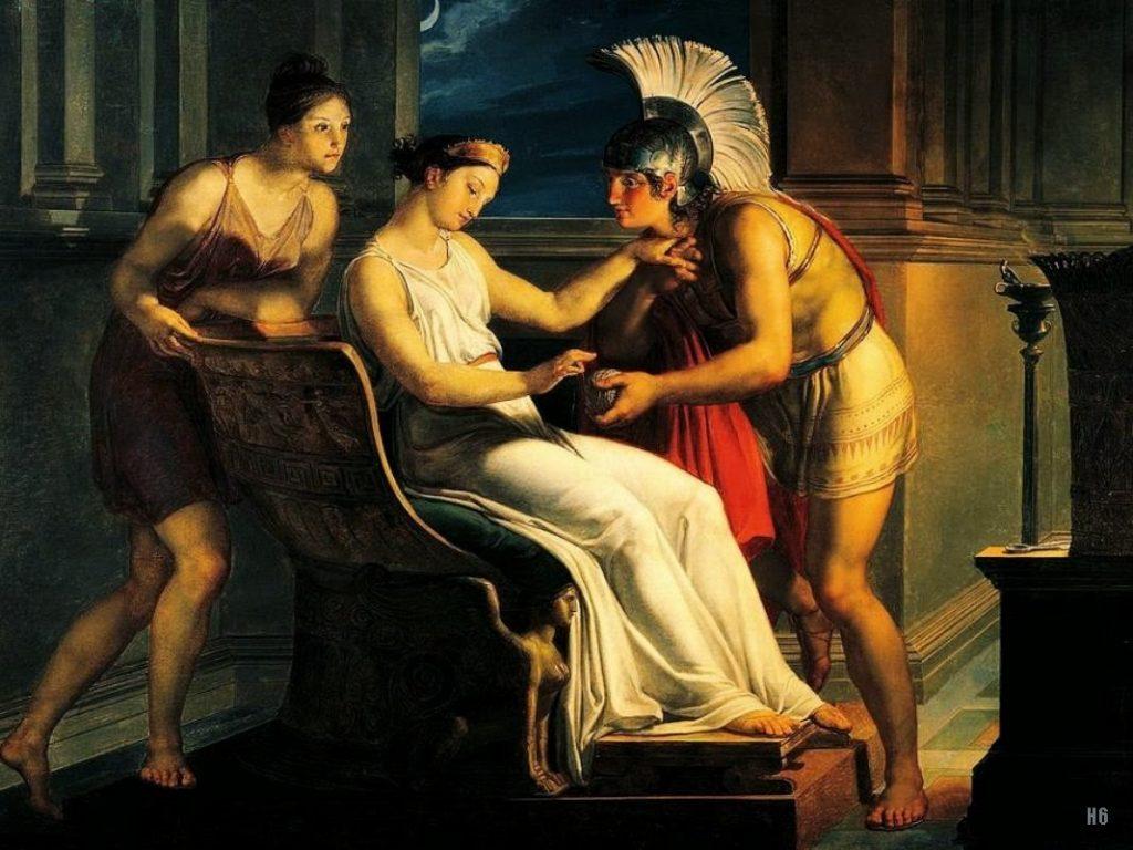 Pelagio Palagi (1775-1860), Ariane donnant le fil à Thésée1814, huile sur toile, MAMbo - Museo d'Arte Moderna di Bologna.